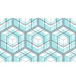 geometric cubes abstract seamless pattern 3d vector image vector image