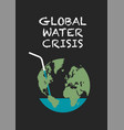 global water crisis poster vector image vector image