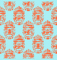 hawaii tiki tribal mask seamless simple pattern vector image vector image