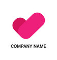 heart and checklist logo template vector image vector image