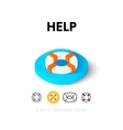 help icon in different style vector image vector image