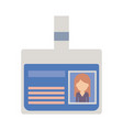 identification card with half body woman picture vector image