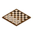 isometric checkerboard with checkers vector image vector image