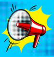 loudspeaker comic book style vector image vector image