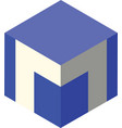 m logo cubic vector image vector image