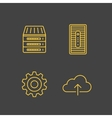 Network devices and hosting services vector image vector image