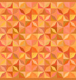 orange geometric striped shape mosaic tile vector image vector image