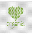 organic green heart transparent background vector image vector image
