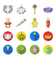pacifier electronic thermometer children vector image