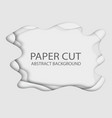 paper cut abstract background 3d with paper cut vector image vector image