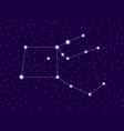 pegasus constellation starry night sky cluster of vector image vector image