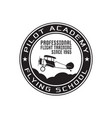 pilot academy emblem logo template flying school