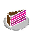 purple cake vector image vector image
