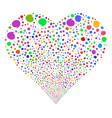 quote fireworks heart vector image vector image