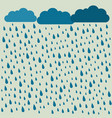 rain image with clouds in wet day rain pattern vector image