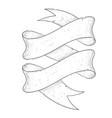 ribbon scroll hand drawn sketch vector image vector image