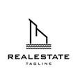 riverbank real estate logo design vector image