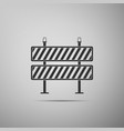 road barrier icon isolated on grey background vector image