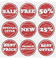 Sale icons set vector image vector image