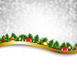 Silver Xmas Holiday Poster vector image