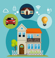 smart house with set services icons vector image vector image