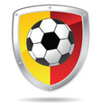 soccer shield vector image vector image