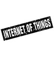 square grunge black internet of things stamp vector image vector image