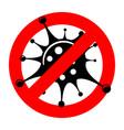 stop 2019-ncov coronavirus sign vector image vector image