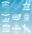 Summer Beach Calligraphy Design Elements