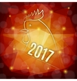 Symbol of 2017 year vector image vector image