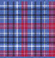 tartan seamless pattern check fabric texture vector image vector image