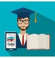 University students graduation vector image vector image