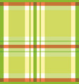vibrant tartan plaid design in tropical orange vector image vector image