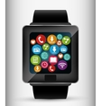 Wearable technology graphic vector image vector image