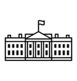 white house house government building icon vector image