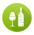wine green flat design long shadow glyph icon vector image