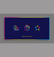 winter holidays greeting card with gradient icons vector image vector image