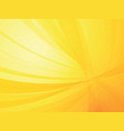yellow curved ray background vector image vector image