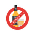 flat stop drinking icon of alcohol bottle vector image