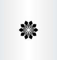 black icon flower abstract vector image