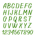 marker hand written symbols letters and vector image
