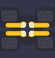 1234 step labels timeline infographics vector image