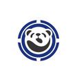 abstract panda icon logo concept vector image vector image