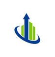 arrow up building logo vector image vector image
