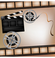 Background with film and club board vector image vector image
