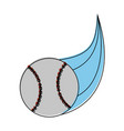ball baseball related icon image vector image vector image