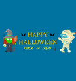 banner for halloween vector image vector image