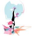 beautiful sporty fit yogini woman practices yoga vector image