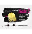 Black Friday watercolor banner with splashes vector image vector image