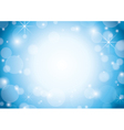 blue and white background with bokeh and stars vector image